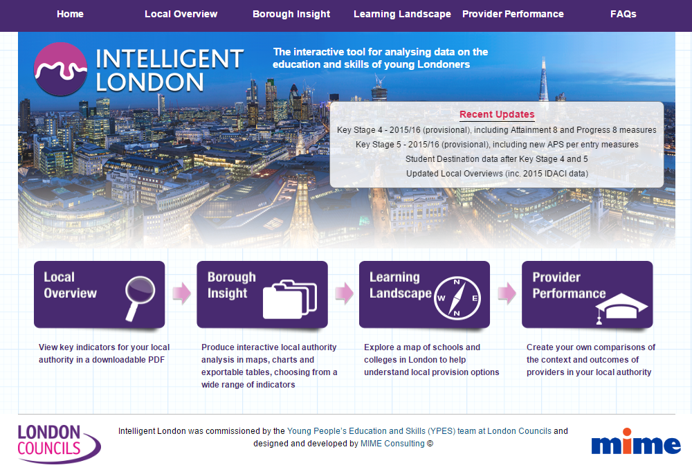 Intelligent London Homepage